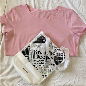 Pink Lululemon T Shirt Sz8